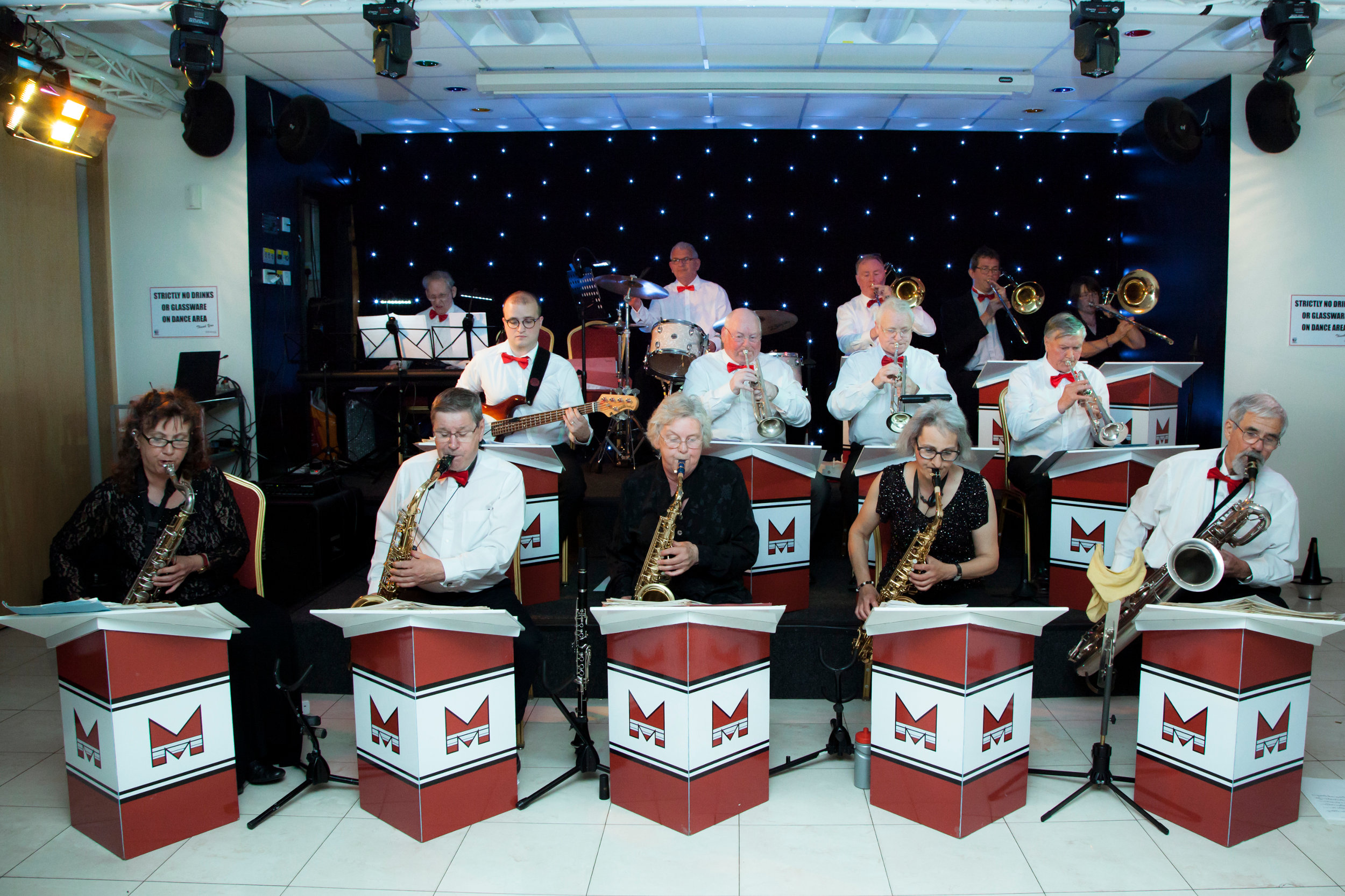 Mainline Big Band playing at Sharnbrook Hotel, Beds.