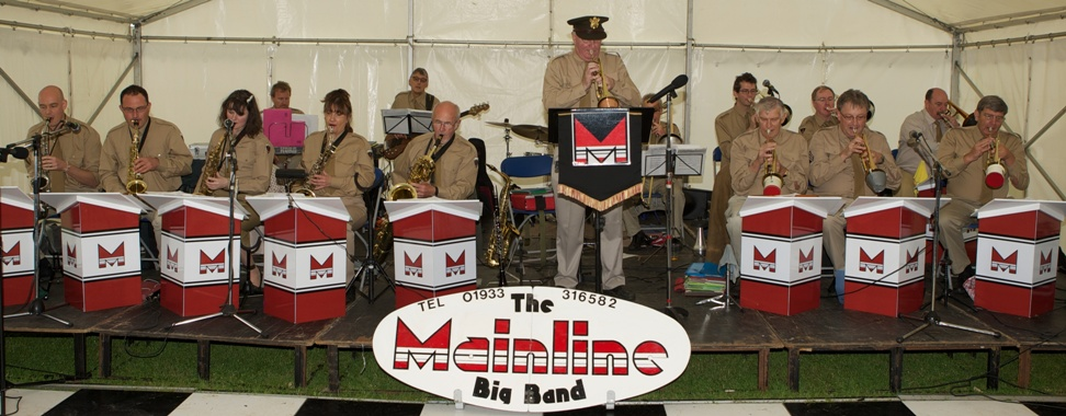 Mainline Big Band playing at Thurleigh Airfield, Bedfordshire